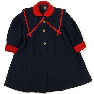 ROTHSCHILD Vintage Sailor Wool Pea Coat Nautical 5
